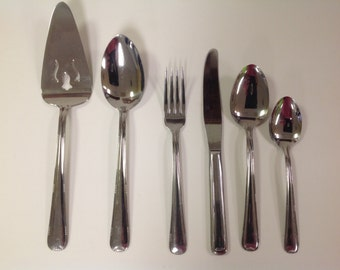 Vintage Silco INS107 Stainless Flatware by International Silver Company