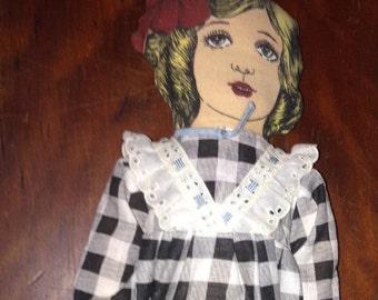 Vintage Litho Pattern Doll Hand Stitched