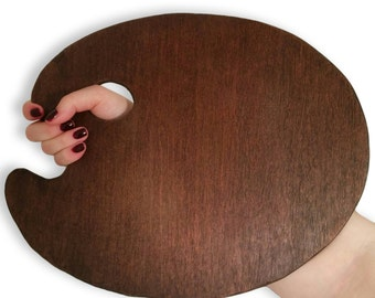Bespoke Handmade Oval Wooden Painters Palette