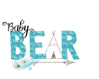Baby Bear svg, svg, Kids T-shirt Svg, Vinyl cutting file | Silhouette Cameo Designer Edition & Cricut, svg design files