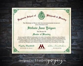 Printable Hogwarts Diploma