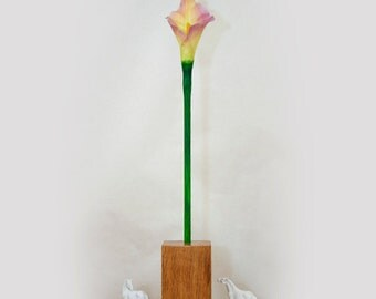 Yellow/Pink Calla Lily Table Lamp