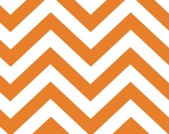 Moda Basic Geometric Medium Zig Zag Tange - Orange - Tangerine - 32216 17