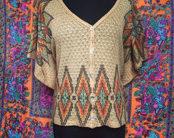 Bohemian Sunshine Tunic: Size Medium