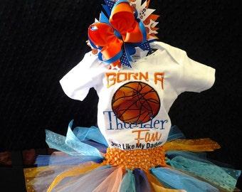 Born a Thunder Fan Just Like My Daddy Onesie Tutu FREE Hair Bow