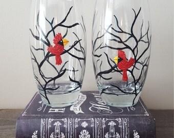 Red cardinal tumblers