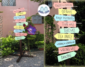 ARROWS SIGNS WEDDING (in Wonderland)-100% personalized with your wedding moments!