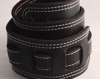Custom handmade leather guitar strap