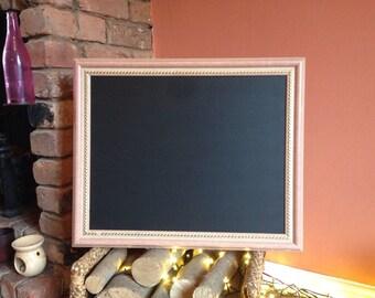 Peach chalkboard vintage framed chalkboard squaire blackboard gold trim