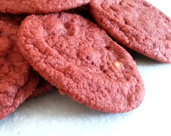 1 Dozen Red Velvet Cookies with White Chocolate Chips