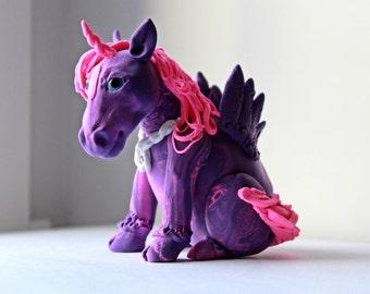 Fairy figure purple unicorn