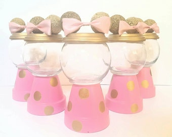 Minnie Mouse pink & gold Gumball Centerpiece