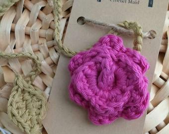 Crochet rose bookmark, flower bookmark, crochet bookmark, books, reading, bookmark, gift, christmas present, teacher gift,