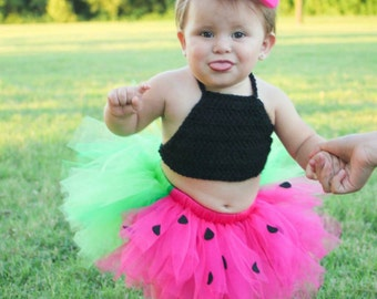 Watermelon tutu. Summer tutu. Pink and green tutu. Watermelon skirt. Watermelon photo prop. Watermelon birthday