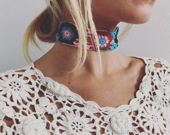 Flower Crochet Choker