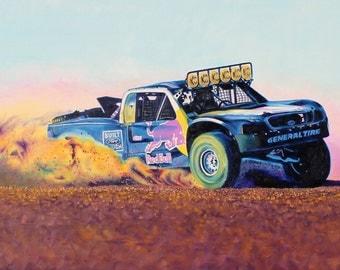 Oil Painted Trophy Truck Reproduction Print