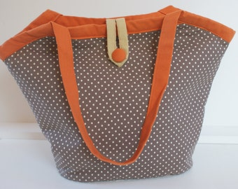 Chocolate orange bucket bag