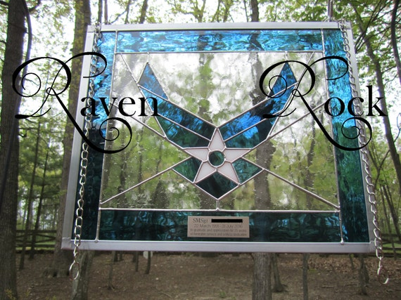 USAF Air Force Military Stained Glass Personalized