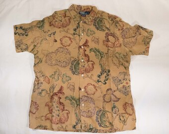 Polo Ralph Lauren Vintage Clayton Floral Hawaiian Shirt Shortsleeve Button up