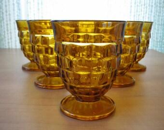 Vintage Set of 6 Indiana Glass Whitehall Juice Glasses