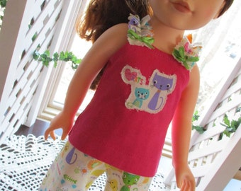 "Shabby Cats Pajamas 18"" Doll Outfit"