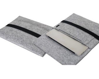 Felt Laptop Case with Pocket Eco-Friendly USA Made Free Shipping