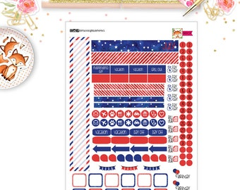 July 2017 Planner Stickers for your  PERSONAL SIZE planner (MP07)