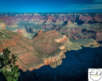 "Magnificent Grand Canyon ""The Battleship"" Fine Art Photograph (9.5"" x 13.25"" print on 14"" x 18"" archival board) Limited Edition Signed"