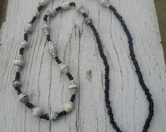 Adoption Fundraiser, Paper Bead Necklace