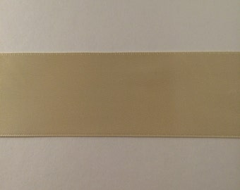 1.5 Inch Ivory Double Faced Satin Ribbon