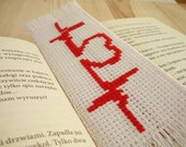 Cross stitch bookmark - lifeline, valentines day gift, gift for her, embroidered bookmark, gift for readers, book lover