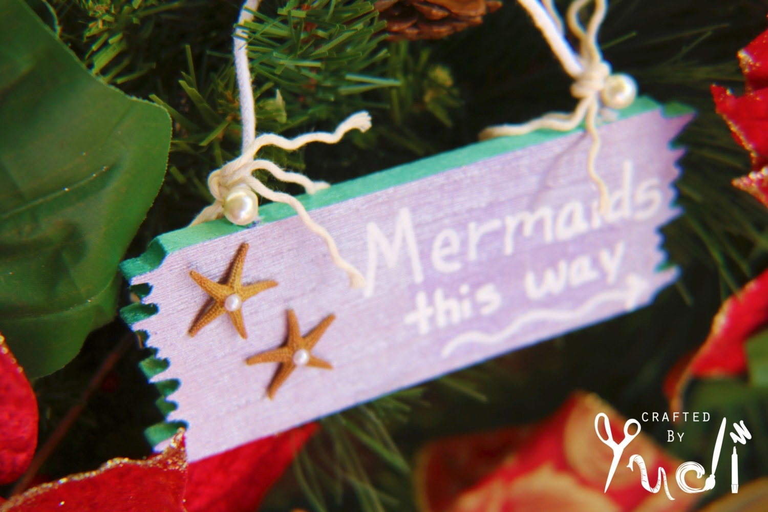Ornament mermaids this way sign mermaid by craftedbyyudi - Ornament tapete weiay ...