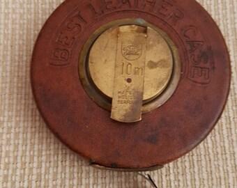 Vintage 1960's Metal Tape Line.Brand:PANZER - Western Germany