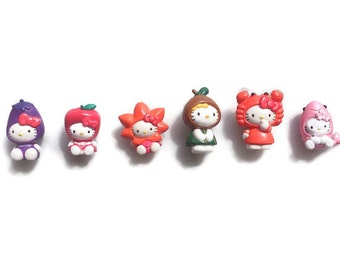 Hello Kitty miniatures featuring vegetable Japan Sanrio product