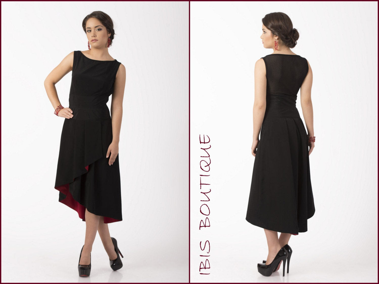 New little black dress elegant black dress tango dress