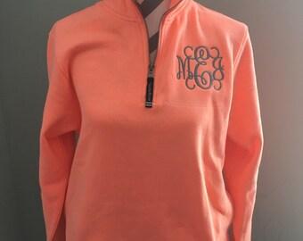 Charles River Quarter Zip Monogram Sweatshirt
