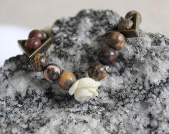 Rose and Stone Bracelet