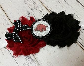 Arkansas Razorbacks elastic headband baby - toddler - child - adult - Arkansas Hogs