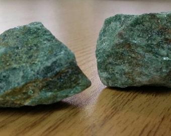 Green Aventurine Crystal ( ROUGH ) Stone of Prosperity 1 Pc.