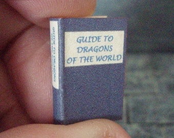 Guide to the Dragons of the World - readable 12th scale miniature book