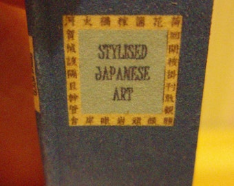 Stylised Japanese Art - readable 12th scale miniature book