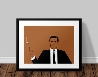 Don Draper Mad Men Illustrated Poster Print | A6 A5 A4 A3