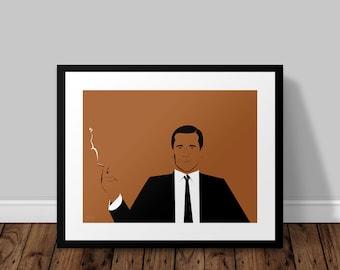 Don Draper Mad Men Illustrated Poster Print | A6 A5 A4 A3