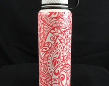 CUSTOM 40oz double wall vacuum insulated stainless steel water bottle