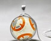 Star Wars jewelry -BB8 Necklace - BB-8 -Star Wars The Force Awakens Necklace - Star Wars Gift- Star Wars Jewelry - Gift for Star Wars Fan
