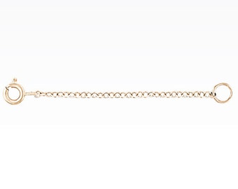 14K Solid Gold Chain Extension, available with all sizes.