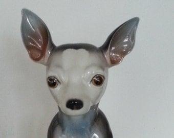 Chihuahua Spanish porcelaine figurine