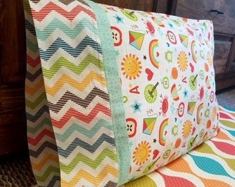 DIY Back to School Pillowcase KITS >>> Fabric pre-cut and pattern included <<< Quality Fabric from Riley Blake Designs