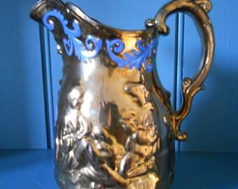 Victorian Copper Lustre Jug