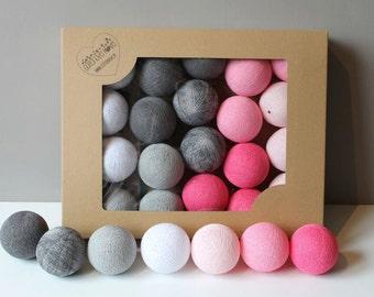 Cotton Balls Raspberry 20 items